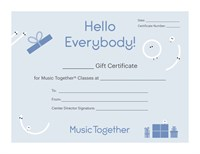 Hello Everybody Certificate (blue)