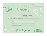 Happy Birthday Certificate (green)